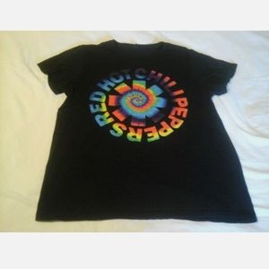 Red Hot Chili Peppers Logo Rock Band Graphic Black